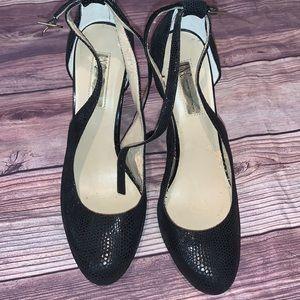 INC International Black High Heel Shoes Size 9.5